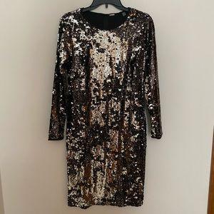 New! Tahari Sequin Sheath Dress